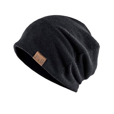 ニット帽  防寒 男女兼用#1.ブラック
