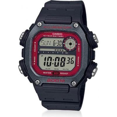 カシオ Casio メンズ 腕時計 Black Resin LCD Watch Black