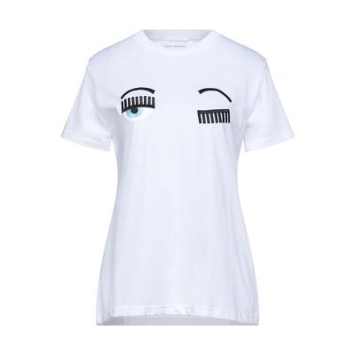 キアラ・フェラーニ CHIARA FERRAGNI T シャツ ホワイト M コットン 100% T シャツ