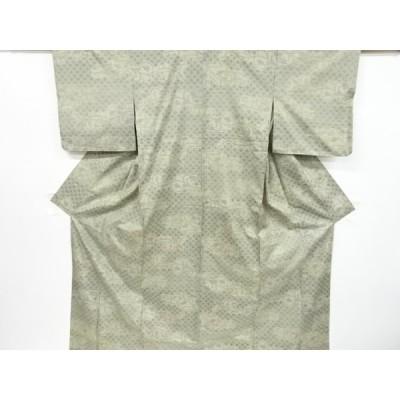 リサイクル 花唐草模様織り出し本場大島紬着物