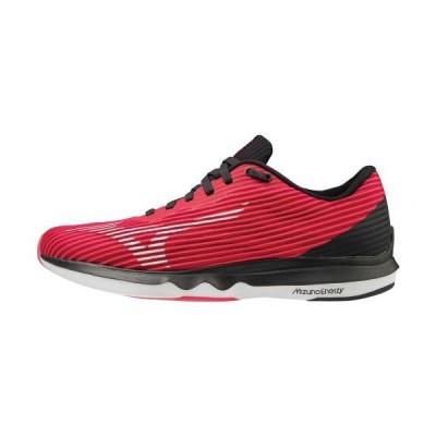 [ミズノ公式] ウエーブシャドウ4 ワイド(ランニング)[レディース] ピンク×ホワイト×ブラック ランニングシューズ ジョギング マラソン shoes