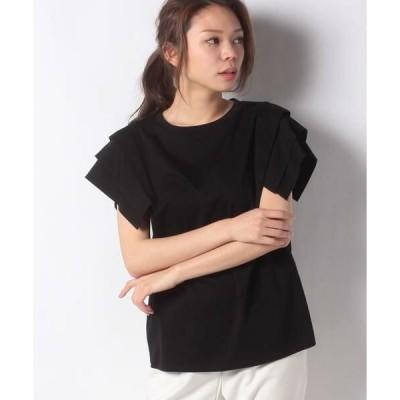 Leilian PLUS HOUSE / レリアンプラスハウス タックスリーブTシャツ