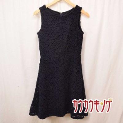【中古】DRESSTERIOR (ドレステリア) ノースリーブ ワンピース ネイビー サイズ36 レディース 刺繍