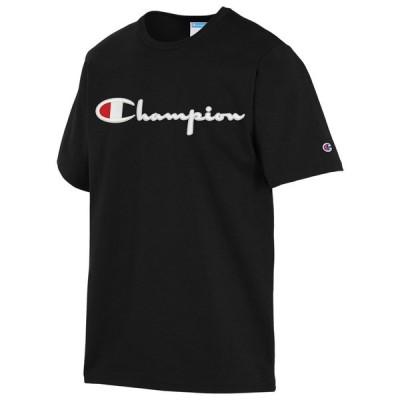 チャンピオン Champion メンズ Tシャツ トップス Heritage Embroidered S/S T-Shirt Black/White