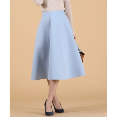 QUEENS COURT/クイーンズコート グログランサーキュラースカート ブルー XS
