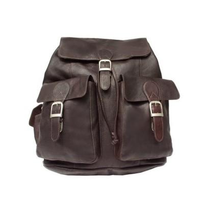 海外より出荷【並行輸入品】Piel 9726-CHC Chocolate Large Buckle-Flap Backpack