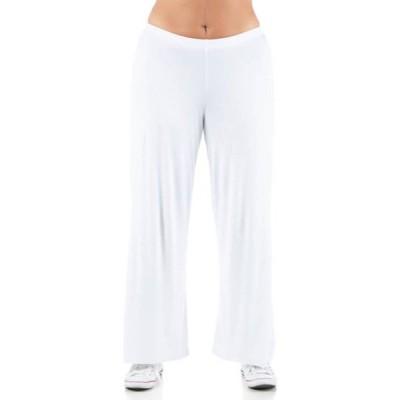 24セブンコンフォート レディース カジュアルパンツ ボトムス Plus Size Comfortable Solid Color Palazzo Lounge Pants