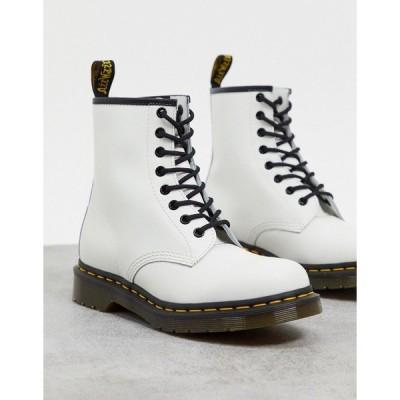 ドクターマーチン レディース ブーツ&レインブーツ シューズ Dr. Martens 1460 8 eye boots in white White