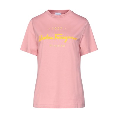 サルヴァトーレ フェラガモ SALVATORE FERRAGAMO T シャツ パステルピンク M コットン 100% T シャツ