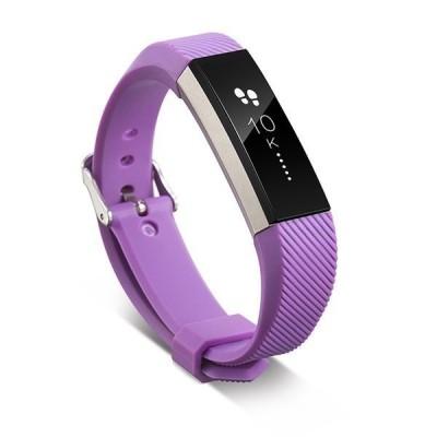 11色 シリコンウォッチバンド Fitbitアルタ HRスマートリストバンドウォッチ 交換 リストバンド シリコン ストラップ 薄紫