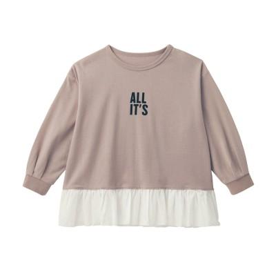 裾フリル長袖子供Tシャツ【子供服 女の子】(ジータ/GITA basic)