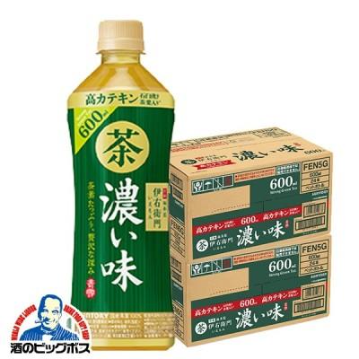 お茶 送料無料 サントリー 緑茶 伊右衛門 濃い味 600ml×2ケース/48本(048)『FSH』