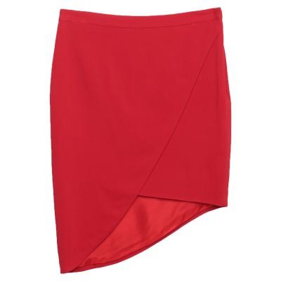 ランバン LANVIN ひざ丈スカート レッド 42 97% レーヨン 3% ポリウレタン ひざ丈スカート