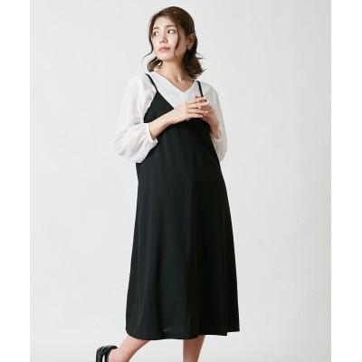 大きいサイズ キャミソールワンピース。大人の落ち感シリーズ。 ,スマイルランド, ワンピース, plus size dress