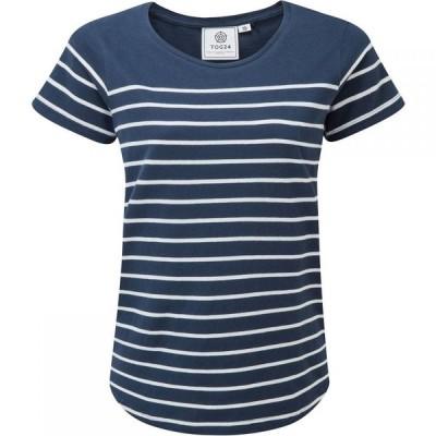 トッグ24 Tog 24 レディース Tシャツ トップス Morigan Stripe T Shirt Blue Multi