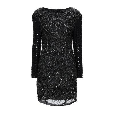 MARC ELLIS ミニワンピース&ドレス ブラック S レーヨン 100% ミニワンピース&ドレス