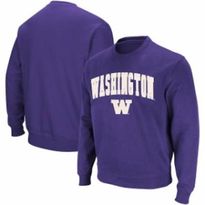 Colosseum コロセウム スポーツ用品  Colosseum Washington Huskies Purple Arch & Logo Crew Neck Sweatshirt