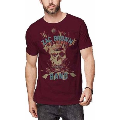 Tシャツ ミュージック Zac Brown Band Skull Collage Officially Licensed Adult Shirt S-XXL