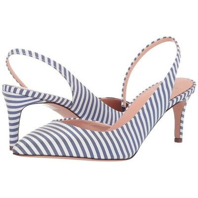 J.Crew 65 mm Colette Pump Slingback in Stripe レディース ヒール パンプス Blue/White