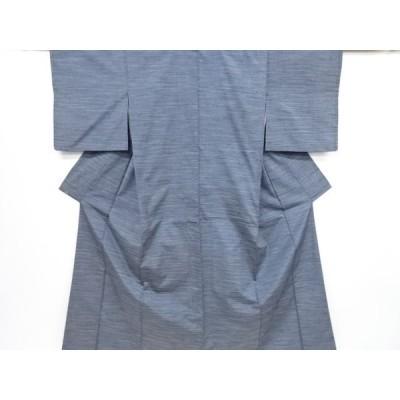 宗sou 横段織り出し手織り紬着物【リサイクル】【着】
