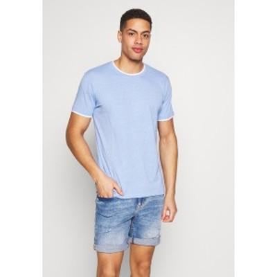 エスプリ メンズ Tシャツ トップス Print T-shirt - bright blue bright blue
