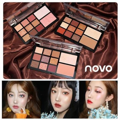 注目の新作アイテム韓国ファッション レディースNOVOアイシャドウ 可愛い グリッターアイシャドウ注目 NEW COLOR アイシャドー 3Colors