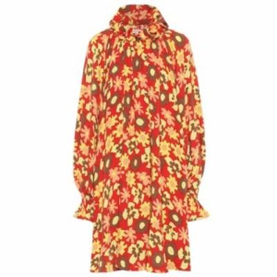 メゾン マルジェラ MM6 Maison Margiela レディース ワンピース ワンピース・ドレス Floral-printed jersey dress orange