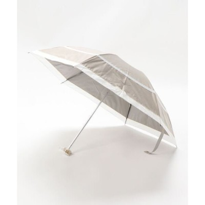 折りたたみ傘 晴雨兼用折りたたみ日傘 シャンブレー切り継ぎ
