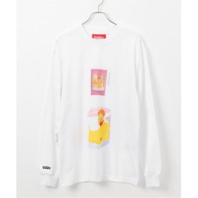 【ジャーナルスタンダード】 プリント ロングスリーブTシャツ ユニセックス ホワイト XL JOURNAL STANDARD