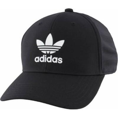アディダス メンズ 帽子 アクセサリー adidas Originals Men's Beacon II Precurve Snapback Hat Black/White