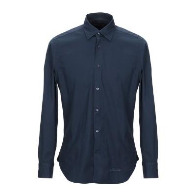TINTORIA MATTEI 954 シャツ ダークブルー 39 コットン 97% / ポリウレタン 3% シャツ