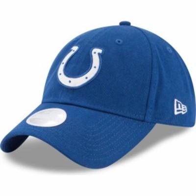 ニューエラ New Era レディース キャップ 帽子 Indianapolis Colts Blue Glisten 9Twenty Adjustable Hat
