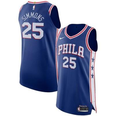 """ナイキ メンズ ジャージ Ben Simmons """"Philadelphia 76ers"""" Nike Authentic Basketball Jersey Royal - Icon Edition"""
