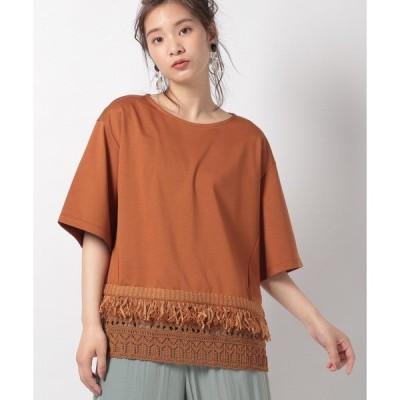 tシャツ Tシャツ 【COOHEM】ニットディテイル Tシャツ