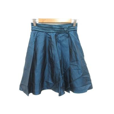 【中古】ボールジー BALLSEY トゥモローランド フレアスカート ラップ ミニ 絹 シルク 36 青 ブルー /KB レディース 【ベクトル 古着】