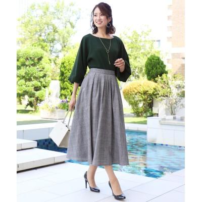 【洗える】きれい色で彩る、大人のマキシ丈フレアスカート