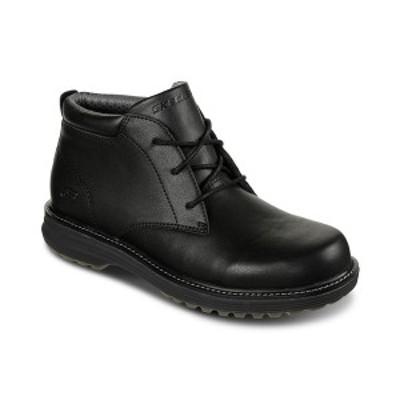 スケッチャーズ メンズ スニーカー シューズ Men's Wenson - Osteno Chukka Boots from Finish Line Black