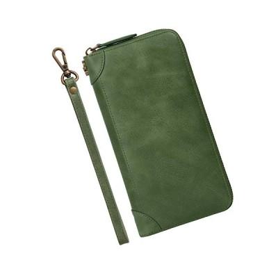長財布 財布 メンズ 長財布 外し取り可能 ストラップ付き VISOUL 長財布 メンズ 多機能 12枚カードポケット ファ