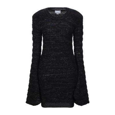 REDEMPTION ミニワンピース&ドレス ブラック M バージンウール 80% / 金属繊維 20% ミニワンピース&ドレス