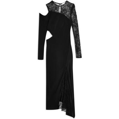 トップショップ TOPSHOP ロングワンピース&ドレス ブラック 14 レーヨン 100% ロングワンピース&ドレス