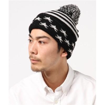 KINGZ / ニットキャップ(星×ライン) MEN 帽子 > ニットキャップ/ビーニー