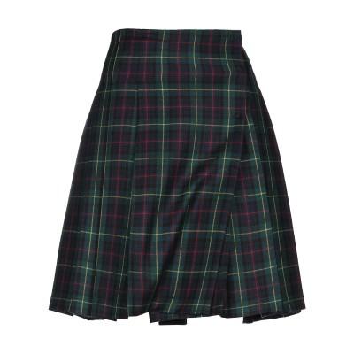 DOUUOD ひざ丈スカート ダークグリーン 38 バージンウール 100% ひざ丈スカート