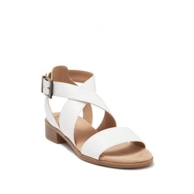 ライフストライド レディース サンダル シューズ Banning Cross Strap Flat Sandals - Wide Width Available WHITE