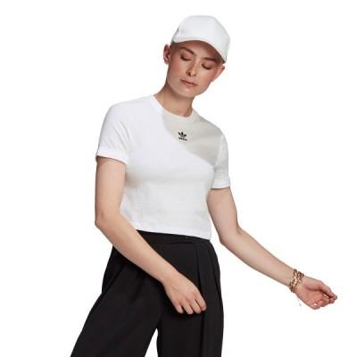 アディダス adidas 半袖Tシャツ クロップ トップ (WHITE) 21SS-I