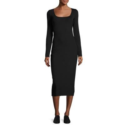 ワンピース ザ・ロウ THE ROW Xenia Square Neck Midi Dress Neoprene STRETCH Black XS S M L