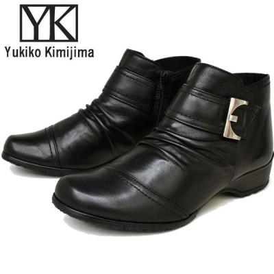 ユキコ キミジマ Yukiko Kimijima ブーティー レディース 本革 レザー 7666