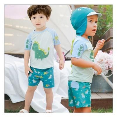 店内全品5000円以上で送料無料  男の子 キッズ 子供 水着 オシャレ ファッシュン 夏物 3点セット 小学生 かわいい 水遊ぶパンツ 帽子付き