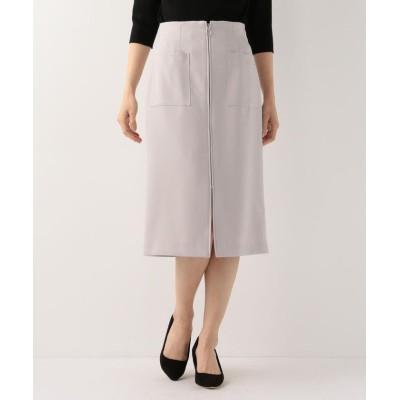 【ミューズ リファインド クローズ】 ウォッシャブル美シルエットタイトスカート レディース ライト グレー M MEW'S REFINED CLOTHES
