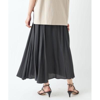【軽やかな着心地】マチフレアースカート