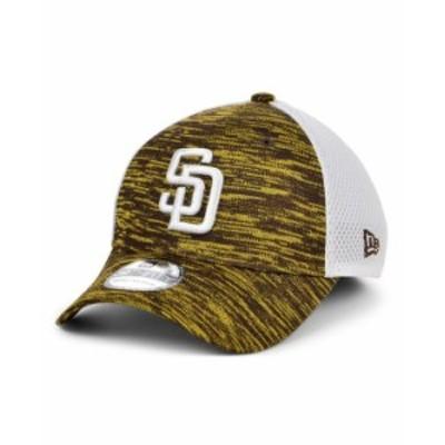 ニューエラ メンズ 帽子 アクセサリー San Diego Padres English Knit Neo 39THIRTY Cap Brown/White